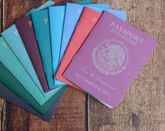 Destination Wedding Invitations - Custom Passport invites | Handmade in Canada by  ---- www.empireinvites.ca ---