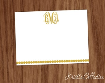 Personalized Note Cards Notecards - Girls Ladies Stationery Stationary Custom Flat Thank You Notecards - Mom Teacher Gifts - Classy Gifts