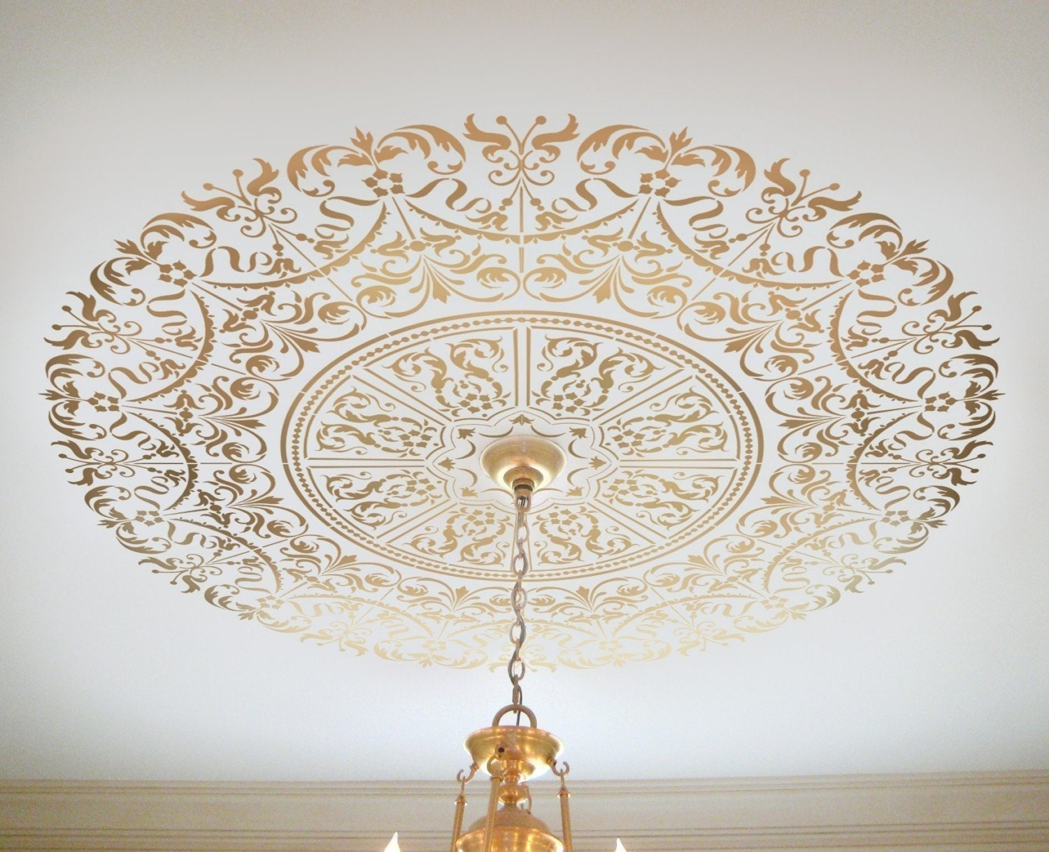 decorative stencil georgian ceiling medallion wall and