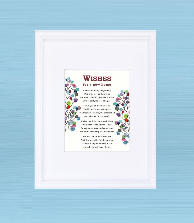 Gerahmte Gedicht: Wünsche für Ihr neues Zuhause