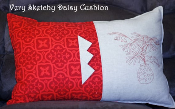 Very Sketchy Daisy Cushion