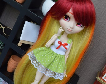 Outfit Pico light green dot [Pullip, Obitsu 27 cm =]