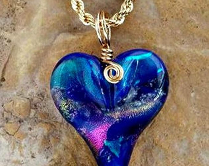 All My Love, Memorial Heart Necklace, Ashes in Glass,Cremation Jewelry, Pet Memorials