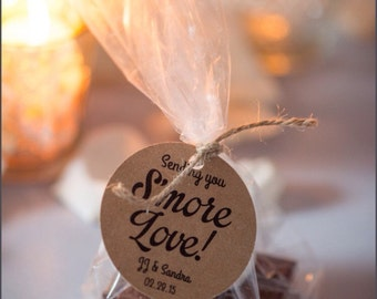 Smore Wedding Favor, Wedding Favor Tags, Smore Favor, Smore Favor Tags Your Guests will Enjoy!
