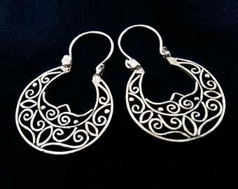 Sterling Silver Hoop Earrings - Flamenco Earrings Arcos -  Hoop Earrings - Handmade Earrings, Gypsy Earrings, Silver Jewelry, Gift Idea