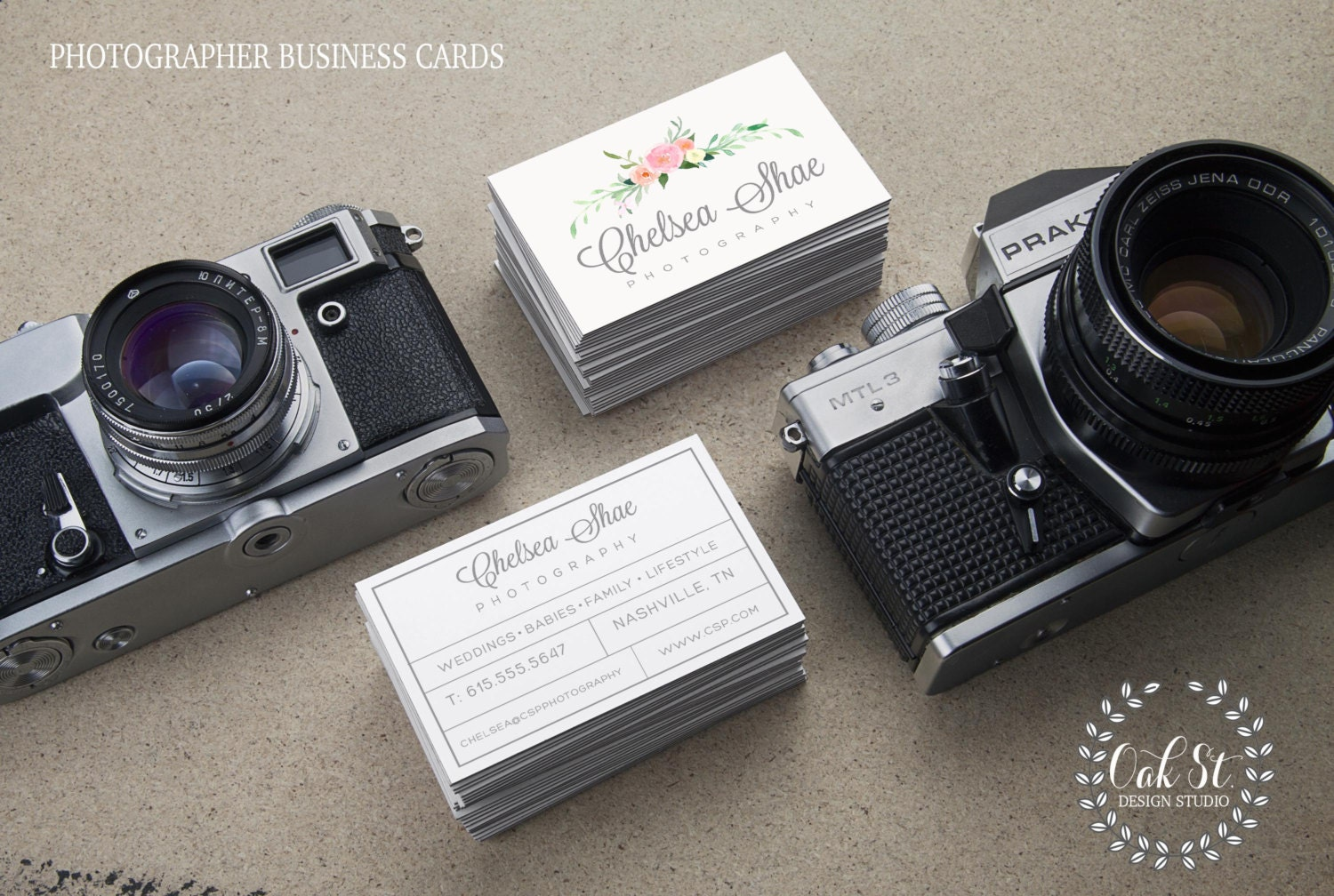 Photographer Business Card Template Photography Business Card