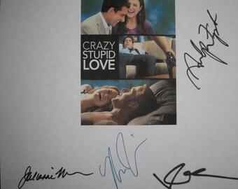 Crazy Stupid Love Signed Film Movie Script X9 Autograph Ryan Gosling Emma Stone Steve Carell Julianne Moore Analeigh Tipton Marisa Tomei