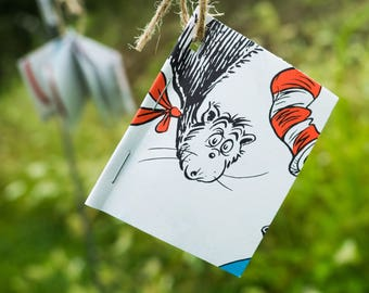 Cat in the Hat Mini Book Garland-Cat in the Hat Shower-Dr Seuss-Dr Seuss Birthday-Seuss Decor-Dr Seuss Classroom-Book Garland-Library Decor