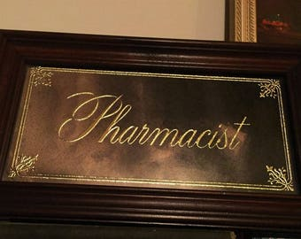 1973 Pharmacist Acid Etched Mirror