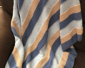 Cotton Striped Baby Blanket