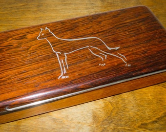 Frantz Hingelberg Rosewood Box with Silver Inlay