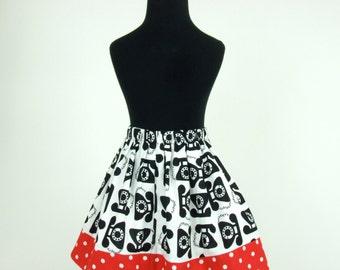 Vintage Telephones Girl's Skirt