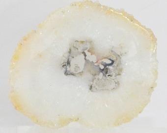 Polished Slice of Quartz Stalactite for Jewelry