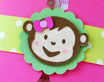 Girly Mod Monkey Inspired Die Cuts - set of 10