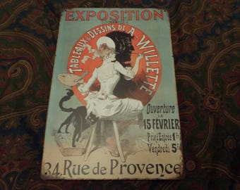 Ad for exposition tin sign