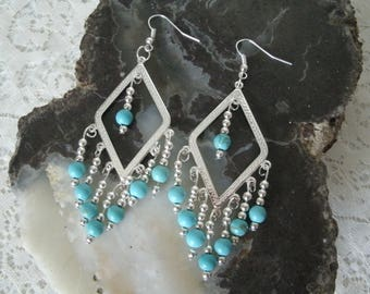 Turquoise Earrings, southwestern jewelry southwest jewelry turquoise jewelry native american jewelry style country western cowgirl tribal