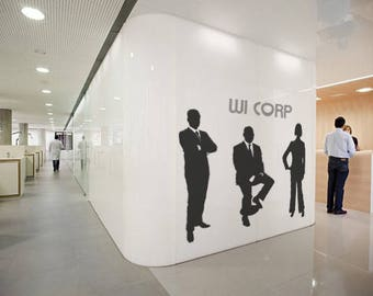 Office Business 3 Person Separate Wall Decals