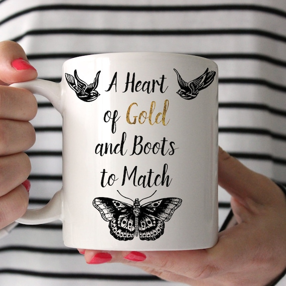 Coffee Mug Harry Styles A Heart of Gold and Boots to Match Harry Tattoo Coffee Cup