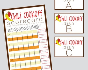 Group Chili Cookoff Sheet ONLY - INSTANT DOWNLOAD