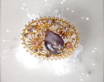 Crystal 'Star Rain' Brooch (Gold Tone) vTr3Xe5TL