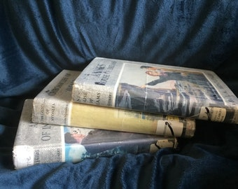 Three Anne of Green Gables original hardcover books from 1917, 1939, 1940