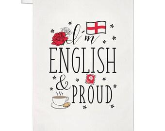 I'm English And Proud Tea Towel Dish Cloth