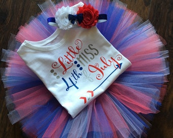 4th of July, Independence Day 3 pc tutu outfit