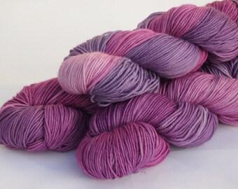 Hand dyed Double knit weight yarn 100% Superwash Merino  - Heather