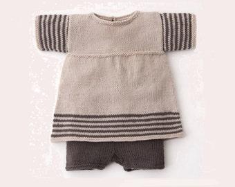 Linen Shorts and Dress For Toddler Girl - Knit  Linen Set
