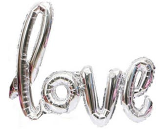 Love Script Balloons | Love Balloons | Wedding Decor | Photo Prop | Valentine's Day Decorations