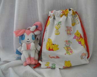 Backpack pouch for child's nursery, kindergarten for out walking, tasting, diapers, blanket