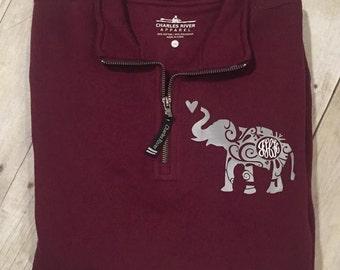 fc5c02b9 Elephant with Bow Monogram Elephant Monogram Elephant