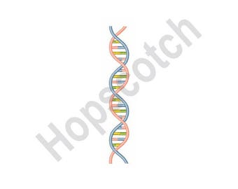 DNA Science - Machine Embroidery Design - 5 X 7 Hoop, Chromosome, Biology, Biologist, Genetics, Gene