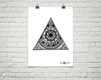 Triangle Mandala Poster