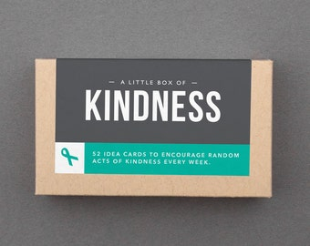 "Kindness Idea Box, Gift, Cards. Be Kind, Fun, Karma, Quirky, Pay it Forward. For Friend, Woman. Inspirational. ""Choose Kindness"" (L5KIN)"