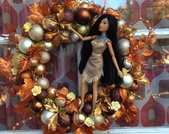 Disney Pocahontas Thanksgiving Fall Wreath