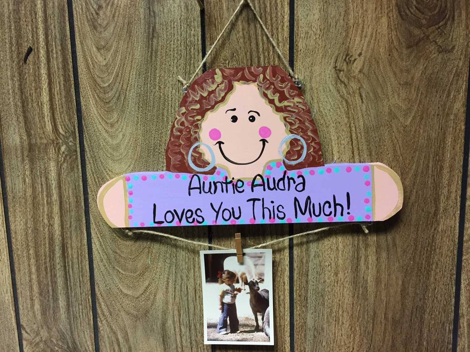 Niece and Nephew photo clip display, frame, board