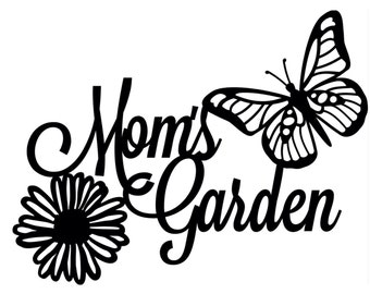 Personalized Garden Metal Sign - Custom Garden sign