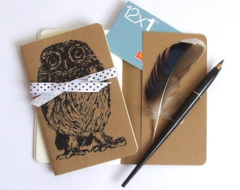 Little Owl Notebook Gocco Printed Pocket Moleskine Cahier Bird Notebook