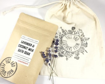 Lavender + Coconut Milk Bath Soak
