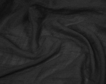 Black 58'' Swiss Gauze Tetron Rayon Fabric by Yard - Style 684