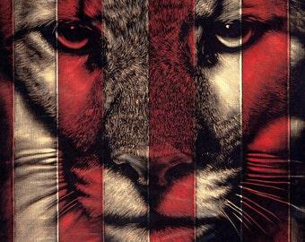 Puma - Giclee Print with Screenprint Glosses