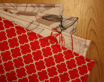 Placemats, Set of 4, Reversible, 18 x 14