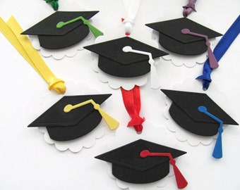 Graduation Tags, School Tags, Scalloped Gift Tags, Party Tags, Graduation Gift Tags, Graduation Cap Gift Tags, Customized
