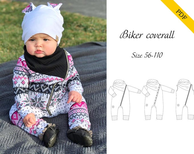 Biker Coverall PDF-pattern 56-110