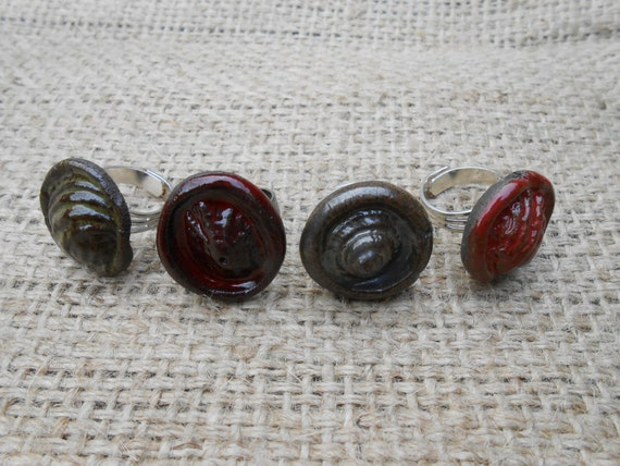 Ocean Floor Clay Rings ON SALE