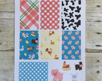 Farm Yard Weekly Layout for Big HP Planner Stickers F508