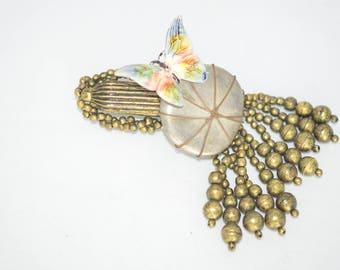 Bronze Beads Brooch