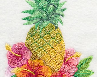 Embroidered Pineapple Towel - Pineapple Towel - Flour Sack Towel - Hand Towel - Bath Towel - Apron