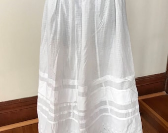 Victorian petticoat- slip- cotton skirt